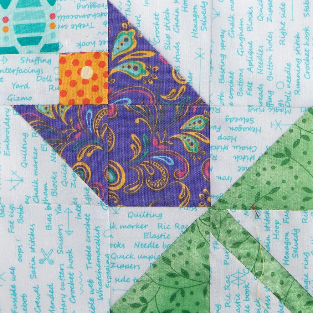 Four Patch Pinwheel by Bonnie Hunter