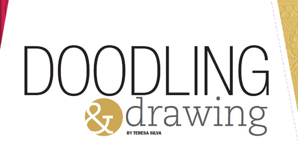Explore doodling and drawing to gain comfort in your longarm quilting