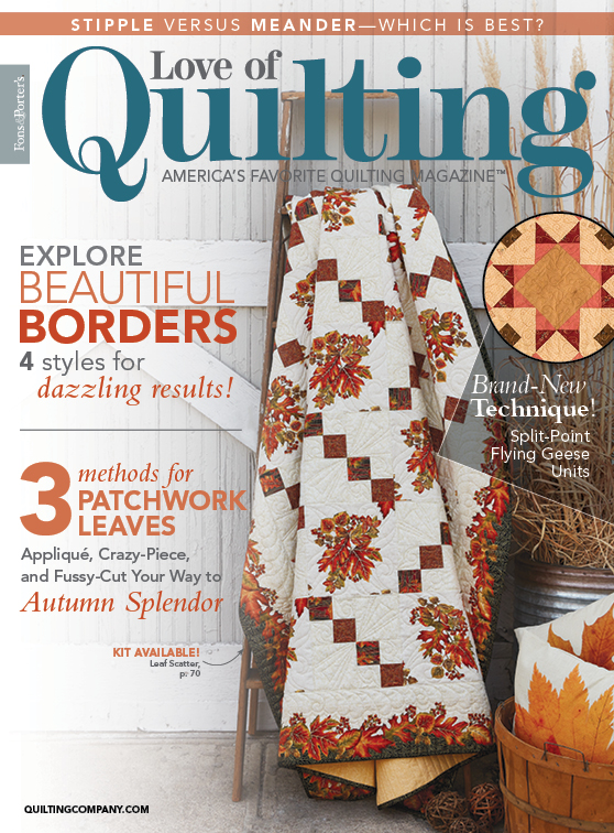 Pattern corrections fons porter the quilting company love of quilting julyaugust 2018 issue cover fandeluxe Gallery