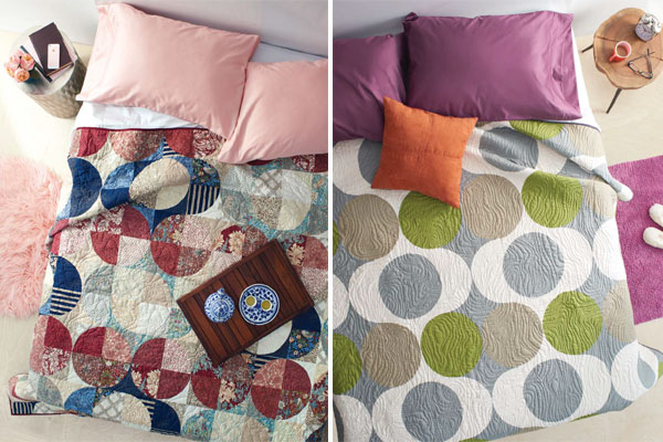 Two quilts of one design by Jen Carlton Bailly