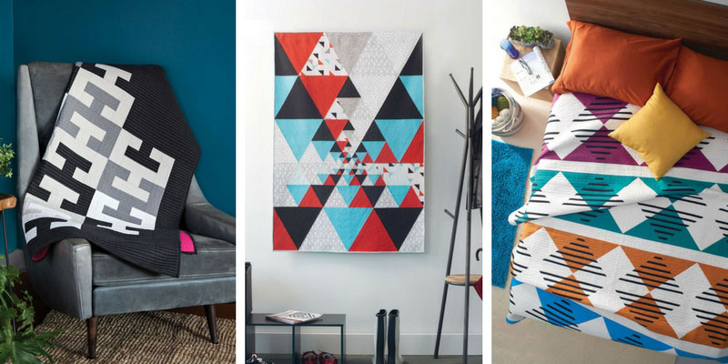 Three stunning quilts featured in Modern Patchwork May/June 2018