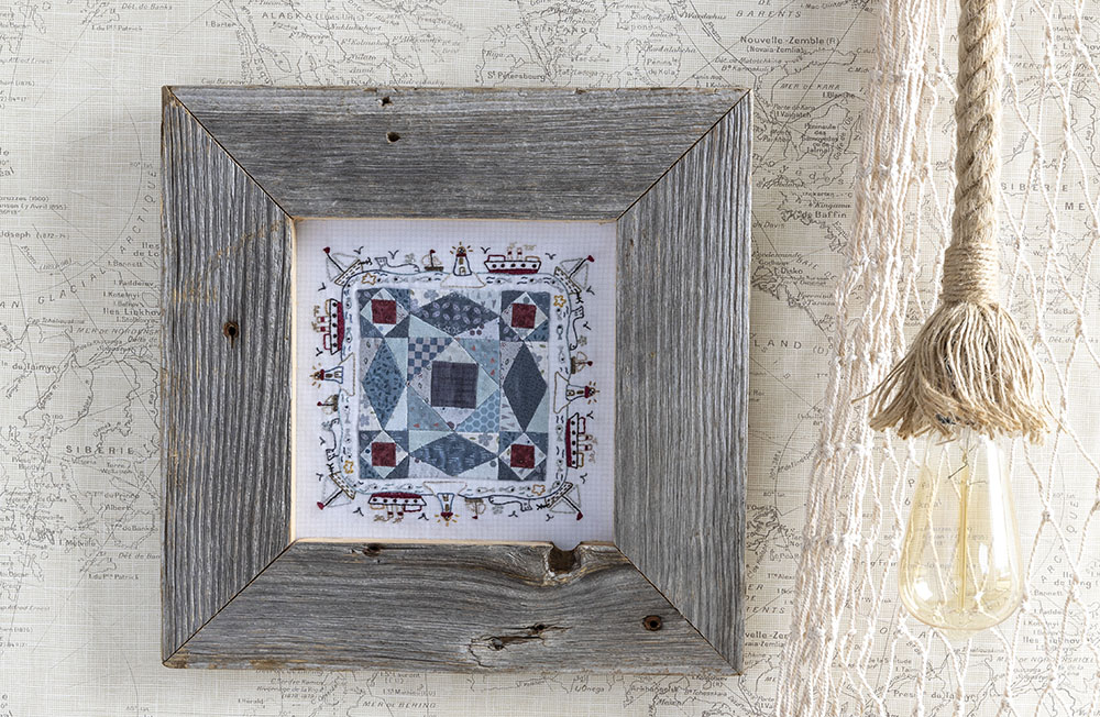 A small project featured in the book Nautical Quilts