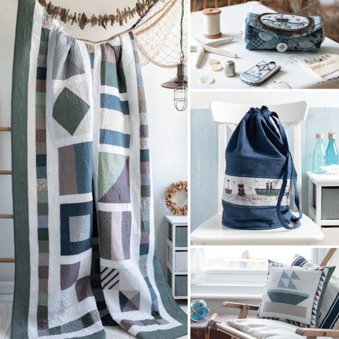 A selection of projects from the book Nautical Quilts