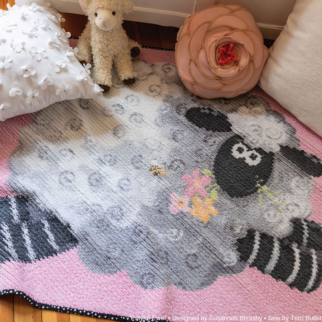 """""""Playful Ewe"""" • Designed by Susannah Bleasby • Sew by Terri Butler"""