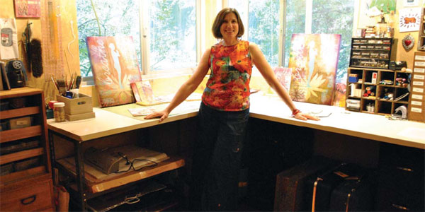 Lisa Thorpe at her studio in Healdsburg, California