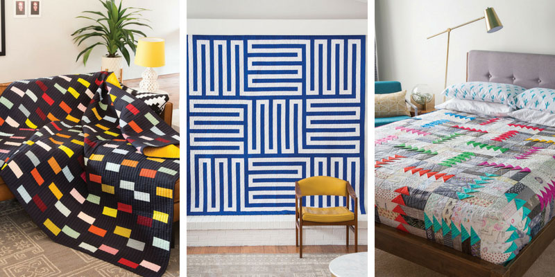 Three modern quilts featured in Modern Patchwork