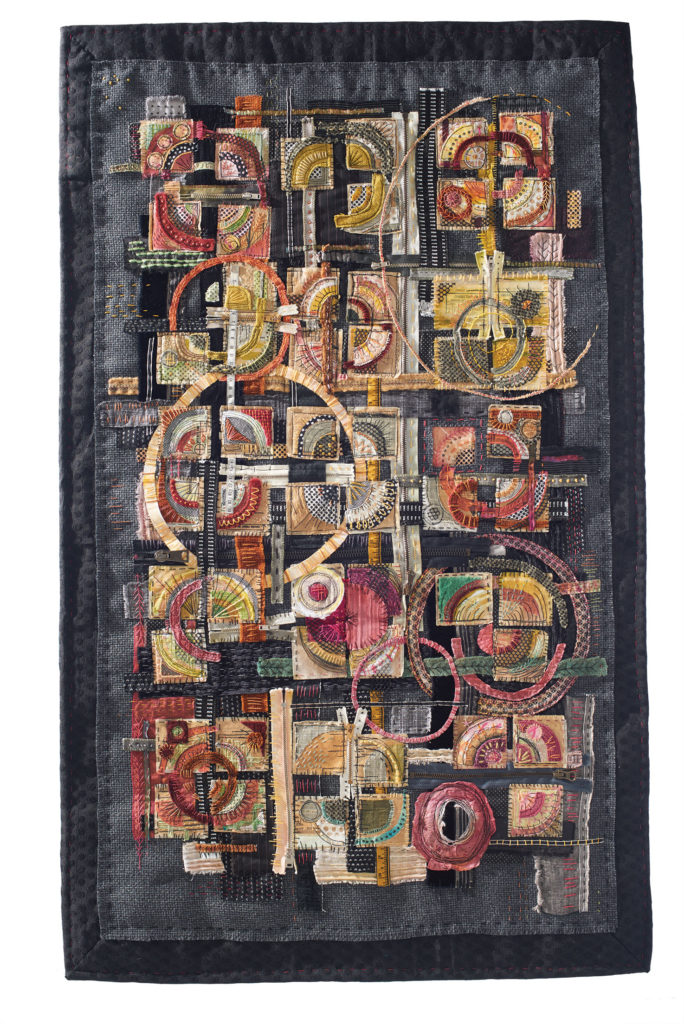 """""""Different but the Same"""" an art quilt by Libby Williamson"""